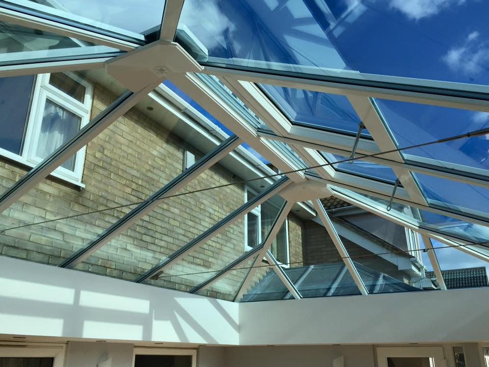 self cleaning roof glass.