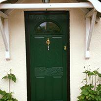 Brunswick Green Composite Door With Black Frame
