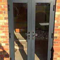 Aluminium Grey French Doors