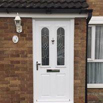 White Cezzane Composite Door