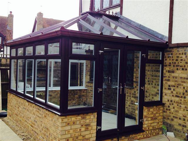 Rosewood on white Edwardian conservatory.