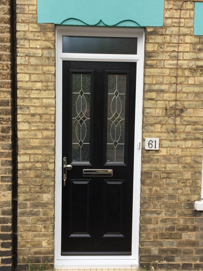 Black composite door fitted in Bedfordshire