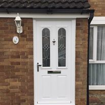 White Cezzane Composite Door
